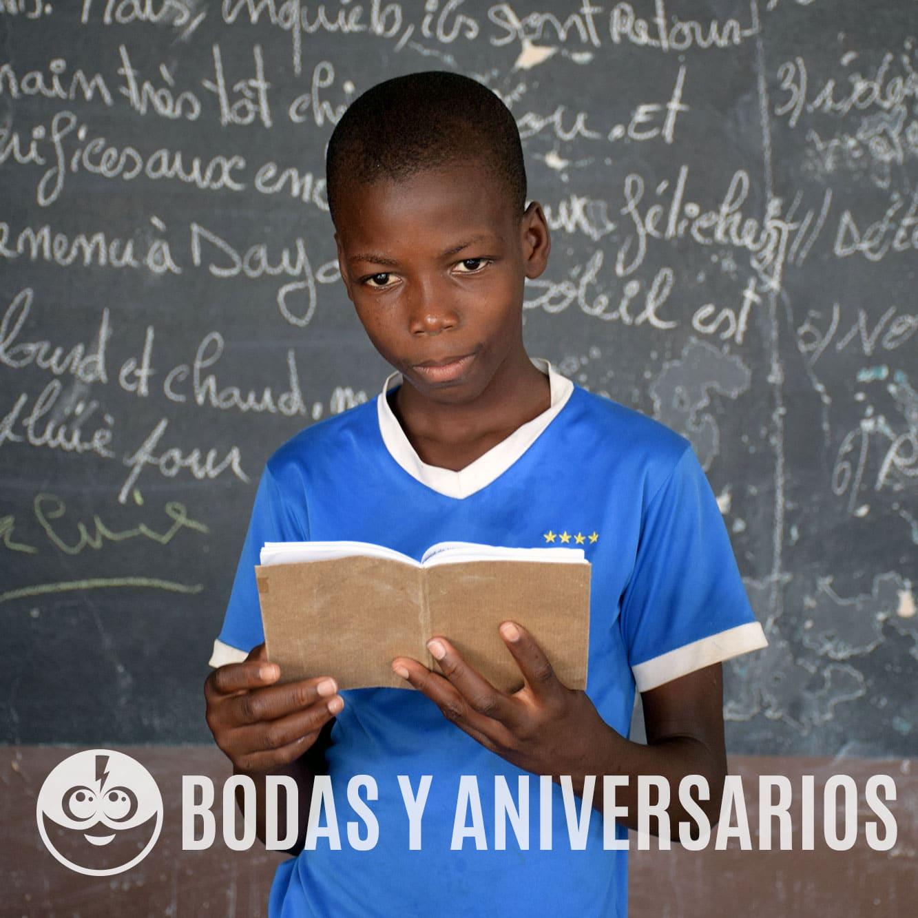 Tarjeta de Bodas solidarias - Celebraciones solidarias y regalos solidarios - Child Heroes